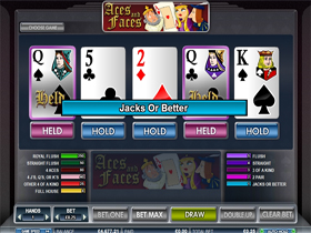 Aces and Faces Poker Screenshot