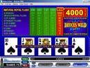 Picture of a Deuces Wild Video Poker Game